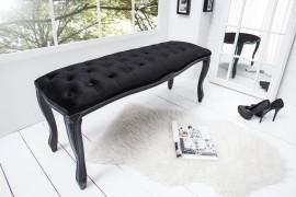 Noble Ontwerp Bank BOUTIQUE 115cm zwart fluweel afbeeldingen