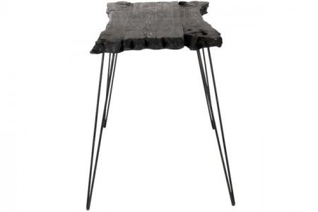 Sidetable zwart Sparhout Onregelmatig 90 cm