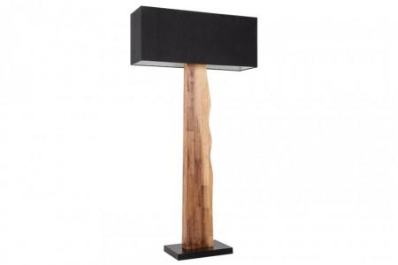 Vloerlamp naturel ORGANIC LIVING zwart massief hout 162 cm met linnen kap