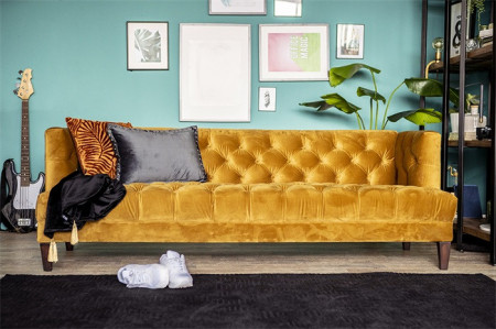Bank Vogue - oker velvet 215cm