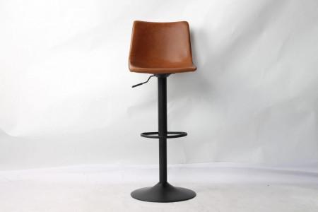 Barstoelen Set van 2 verstelbaar - cognac