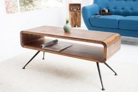 Design salon tafel ALPHA 100 cm Sheesham afbeeldingen