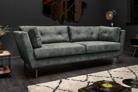 Elegante 3-zits bank MARVELOUS 220 cm donkergroen fluweel 3-zits bank inclusief kussens