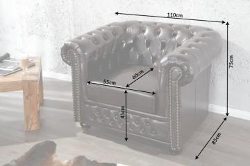 Elegante Chesterfield Coffee bruine fauteuil met knoopsluiting/ Beschikbaar in maart 2019