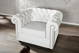 Fauteuil Model: Chesterfield - Wit afbeeldingen