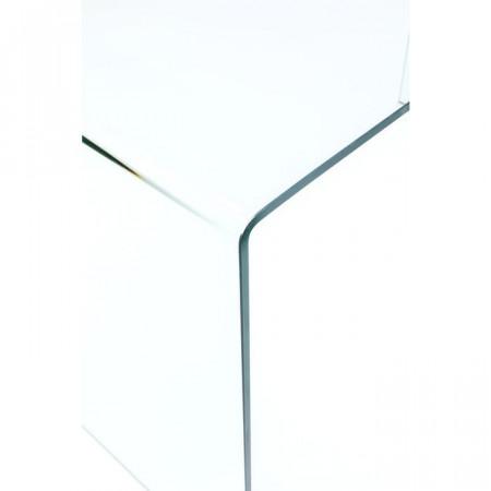 Glazen Bureau Clear Club 125x60cm