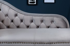 Long Chair Chesterfield bank in  fluwelen stof afbeeldingen