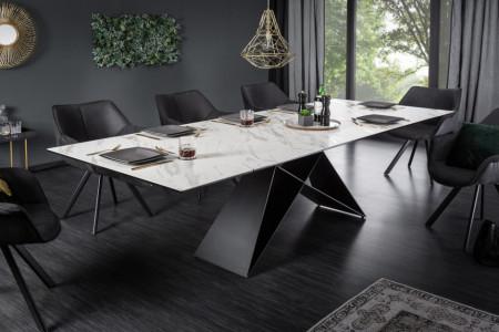 Moderne keramische eettafel PROMETHEUS 180-220-260cm uitschuifbaar marmerlook Leverbaar in Oktober