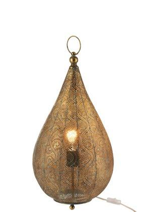 Tafellamp Druppel Oosters Oud Goud