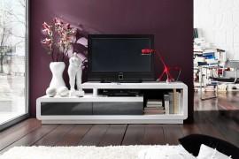 TV / HiFi Meubel Model: Spring - Wit/grijs afbeeldingen