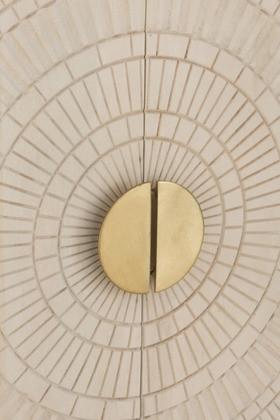 Wandkast Mangohout Beige/Goud 2 Deuren 120cm