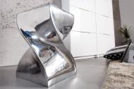 Aliminium Zilver Bijzettafel zoals hocker