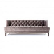 Bank Vogue - grijs velvet 215cm