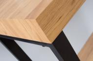 Bureau Eiken 120 cm eiken vintage met metalen frame