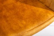 Bureaustoel met armleuning Fluweel stof mosterdgeel draaistoel
