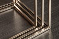 Design bijzettafel set van 3 ELEMENTS 40cm mat zwart geborsteld RVS