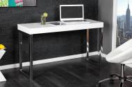 Design console WIT BUREAU 120cm wit hoogglans kantoortafel