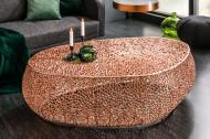 design salontafel Filigraan LEAF 122cm koper handwerk
