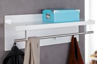 Design wandkapstok Hoogglans Wit CLAIRE 75 cm kapstok met plank