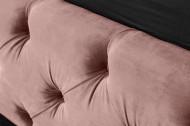 Elegant tweepersoonsbed PARIS 160x200cm oud roze fluweel stof Chesterfield design