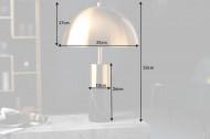 Elegante tafellamp BURLESQUE 52cm goud zwart met marmeren voet
