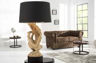 Exclusieve massief houten lamp SWAN hand gesneden uit acaciahout!!!