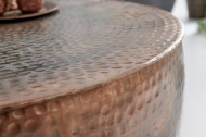 Extravagante salontafel ORIENT II 60 cm koper gevlamd hamerslag design