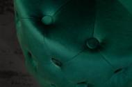 Gecapitonneerd Poef Chesterfield donkergroen goud fluweel 37 cm
