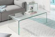 Hoge kwaliteit set van 2 glazen salontafel FANTOME 100 cm transparant