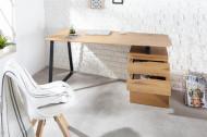 Industrieel bureau STUDIO 160 cm eiken look met 3 lades