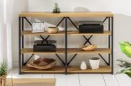 Industriële wandmeubel STUDIO 110 cm eiken look met metalen frame