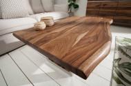 Massief boomstam salontafel MAMMUT 110 cm Sheesham 4 cm tafelblad