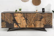 Massief dressoir TROPICAL 175 cm mangohout bloemmotief