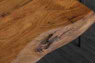 Massiver Baumstamm Esstisch MAMMUT NATURE 180cm Akazie 3,5cm dicke Platte
