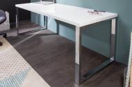 Modern hoogglans wit bureau140 cm witte hoogglans studietafel