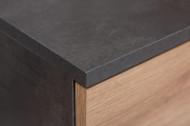 Moderne Ladenkast met wielen MONTREAL 45 cm zwart eiken met 3 lades