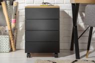 Moderne ladenkast STUDIO 40 cm eiken look zwart 3 lades
