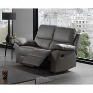 Relax Bankstel Salon Zetel 3+2 Leer Kleur Grijs