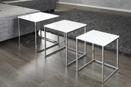 Salontafel / Bijzettafel Model: Fusion -  3 Set
