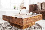 Solide design salontafel BOLT 80cm Sheesham hout