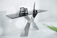 Stijlvolle console tafel NEO BAROCK 160cm zwart opaalglas roestvrij staal