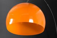 Uitschuifbare booglamp LOUNGE DEAL 175-205 cm oranje marmeren voet vloerlamp