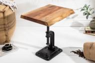 Authentieke bijzettafel FACTORY 43 cm acacia massief hout industrieel design