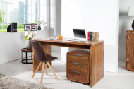 Design bureau CUBUS 150cm Sheesham Rosewood Wood Stone Finish
