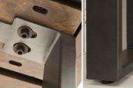 Design console tafel IRON CRAFT 115 cm mangohout grijs ijzeren bureau