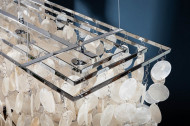 Design hanglamp SHELL 80cm schelplamp parelmoer