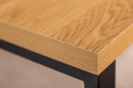 Design salontafel eiken look 120 cm zwart metalen frame
