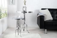 Edele design bijzettafel SAVOY 55 cm gepolijst zilver