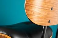 Eigentijdse barkruk CLASSICO zwart 115 cm in hoogte verstelbaar notenfineer