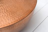Extravagante salontafel ORIENT II 60 cm koper hamerslag design